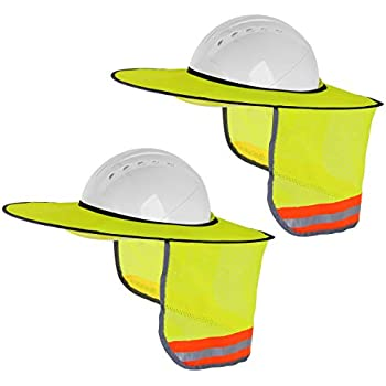 Sunbrero Hard Hat Sun/Rain Visor (GRAY/WHITE) MADE OF DURABLE ...