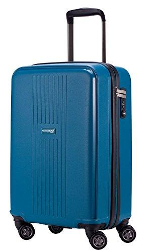HAUPTSTADTKOFFER® 37 Liter (ca. 55 x 36 x 21 cm) · Handgepäck · F-HAIN · TSA Schloss · Farbe: BLAU MATT