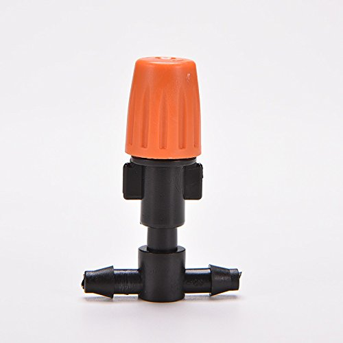10Pcs Greenhouse Flower Plant Garden Plastic Ajustable Atomizing Misting Sprinkler Nozzles Tee Irrigation With Water Connector