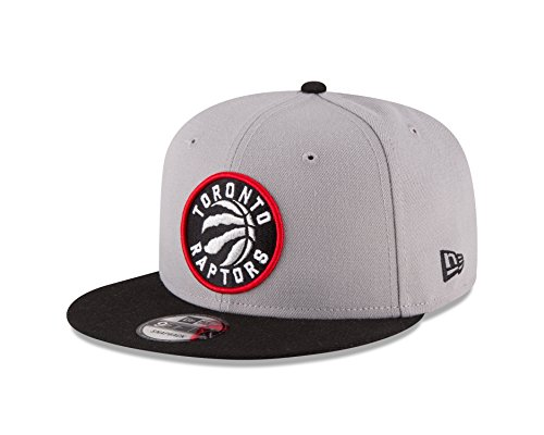 New Era NBA Toronto Raptors Adult Men NBA 9Fifty 2Tone Snapback Cap,Osfa,Gray