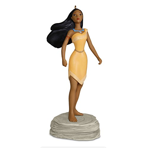 Hallmark Keepsake Christmas Ornament 2018 Year Dated, Disney Pocahontas Colors of the Wind With Music (Christmas Tree Ornaments Disney)