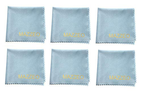 Microfiber Cloths for Electronics (6 Pack) - Cleans Lenses, Glasses, Screens, Cameras, iPad, iPhone, Tablet, Cell Phone, LCD TV Screens and More ()