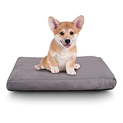 Cr Memory Foam Pet Bed for Cats & Dogs, Waterproof Design, Charcoal Gray