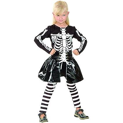 Disfraz de esqueleto niña - 4 - 6 años: Amazon.es: Juguetes ...