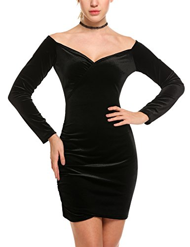 ANGVNS Womens Shoulder Bodycon Cocktail
