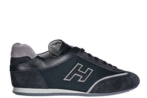 Hogan Scarpe Sneakers Uomo camoscio Nuove Olympia Blu