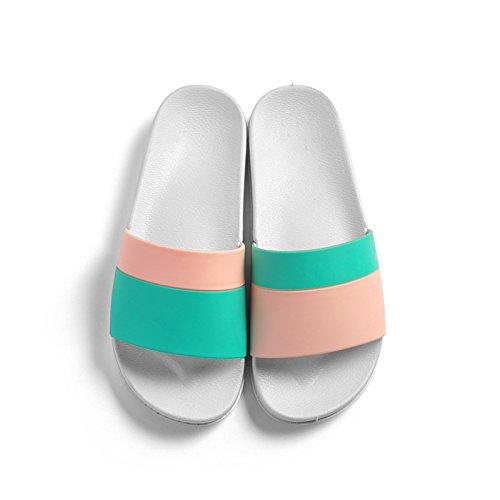 pantofole soggiorno slip verde Cool 39 maschio femmina estate pavimento domestico minimalista anti bagno morbido nordici coppie rosa indoor fankou bagno da ZSqww