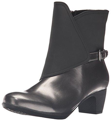 Trotters Women's Stormy Rain Boot, Graphite/Black, 11 N US