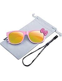 RIVBOS Rubber Kids Polarized Sunglasses Glasses for Boys Girls Age 3-10RBK002-1