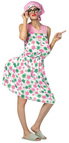 Fancy Costume Dress Granny (UHC Women's Granny Flowered Dress Funny Theme Party Outfit Halloween Costume, OS (Up to)