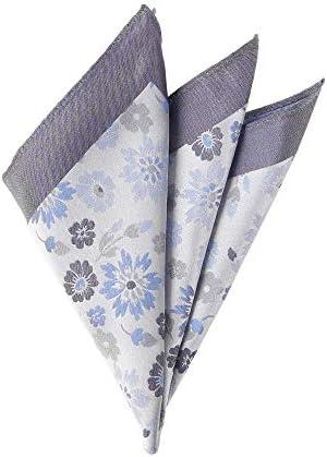 (ザ・スーツカンパニー) ジャカード織り シルクポケットチーフ ブルー系