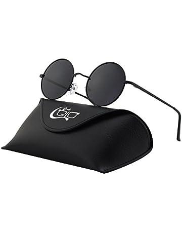a14967ebde CGID E01 Estilo Vintage Retro Lennon inspirado círculo metálico redondo gafas  de sol polarizadas para hombres
