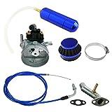NORTHTIGER Blue Carburetor&Power Boost Bottle&Air Filter Fit 49/60/66/80cc Motorized Bike