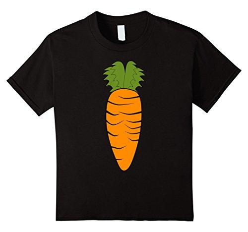 [Kids Carrot Funny Vegetable Veggies Costume T-Shirt 4 Black] (Vegetable Costumes For Kids)