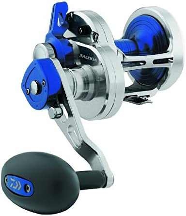 Daiwa SALD20-2SPD Saltiga 2 Speed Lever Drag Saltwater Reel, 20, 6.3 1 Gear Ratio, 6CRBB Bearings, 26 lb Max Drag, Right Hand