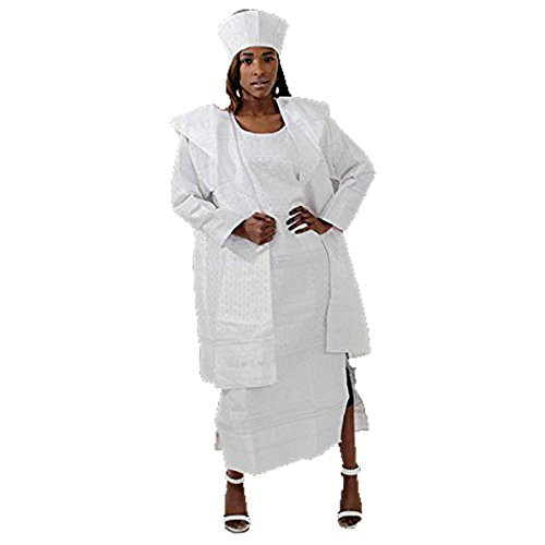 George Fabric Dress - White/Silver:Free by utopia africa