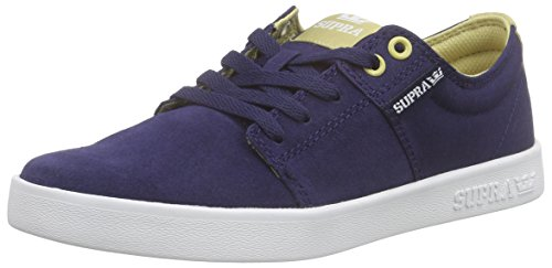 Supra Hombres Stacks Ii Zapato De Skate Azul Marino / Caqui / Blanco
