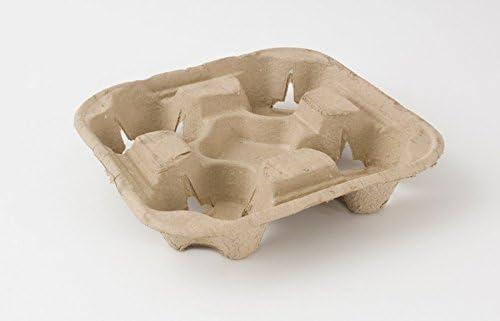 Bandeja de cartón biodegradable para 4 vasos de plástico, 100 ...