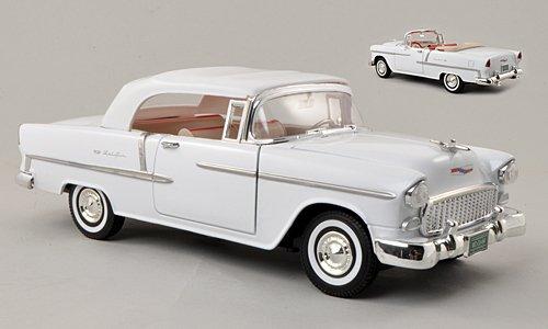 Chevrolet Bel Air Convertible, closed, white, 1955, Model Car, Ready-made, Motormax 1:18