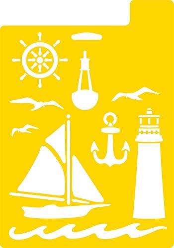 Delta Creative Stencil 971690710 Nautical 7 by 10-Inch