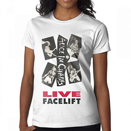 GMSQJ-Top Women's Vintage Alice in Chains Live Facelift T Shirts M -