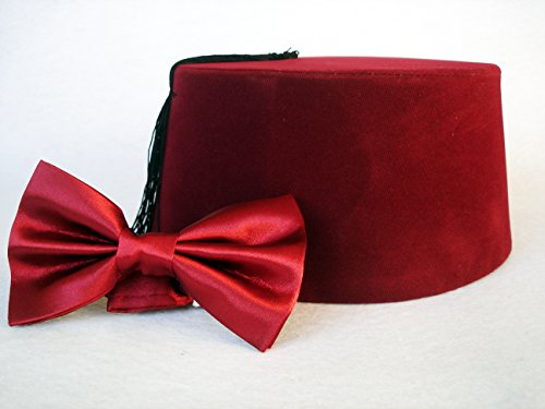 11th Doctor Costume Fez (Doctor Who Fez And Bow Tie - Eleventh Doctor Matt Smith Fez - Doctor Who Cosplay - MEDİUM)