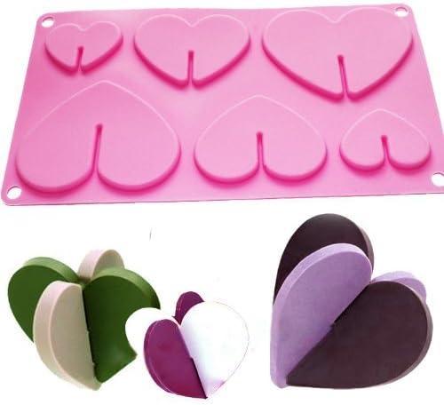 Vancgoods sweet 3d coeur biscuits chocolat bonbons moule pan f/ête cadeau fabricant silicone moule