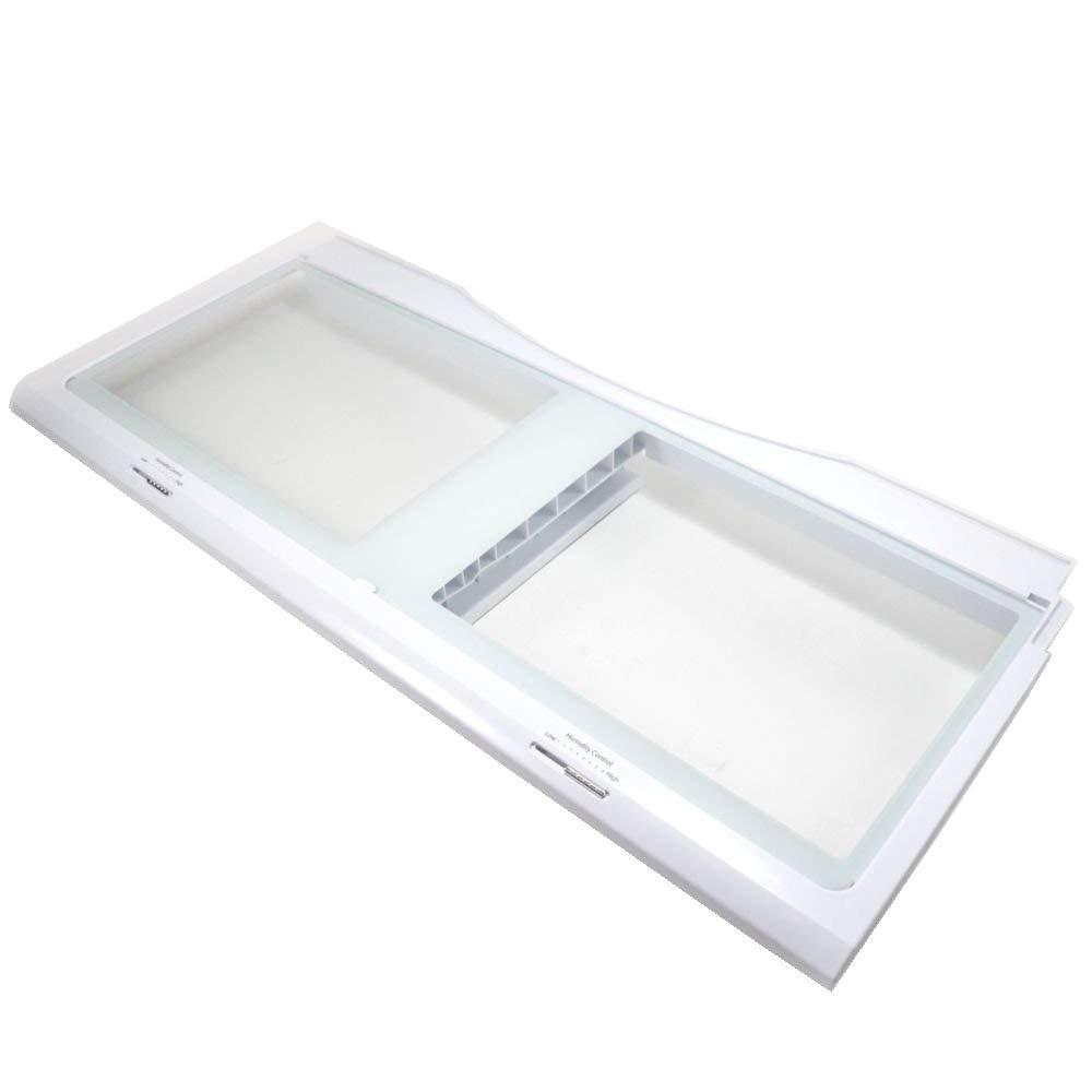 Samsung DA97-07565B Refrigerator Crisper Drawer Cover Assembly Genuine Original Equipment Manufacturer (OEM) Part