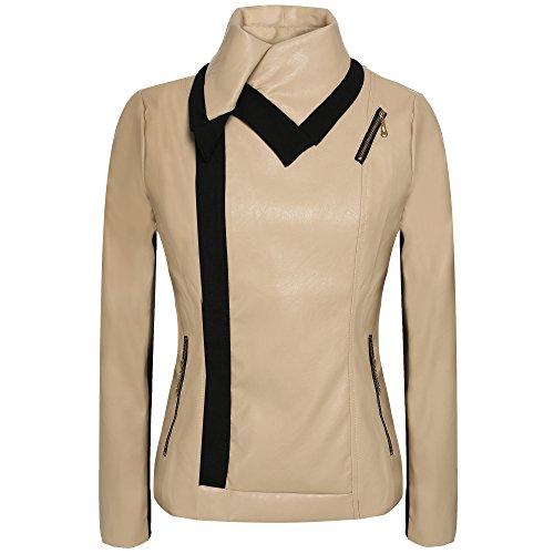 ANGVNS Casual Synthetic Leather Outerwear