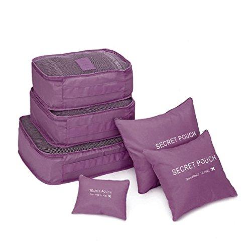 ulable 6PCS/set quadratisch Reise Gepäck Speicher Taschen Kleidung Organizer Tasche Fall