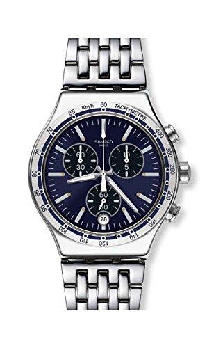 Swatch Men's Dress My Wrist YVS445G Silver Stainless-Steel Swiss Quartz Fashion Watch