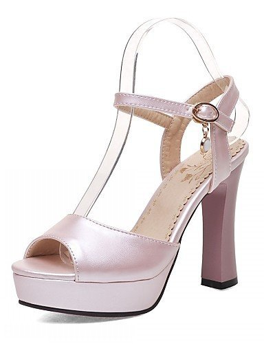Heel Women's Pink Evening Career Peep White amp; Toe Office Blue Stiletto Party Pink Wedding ShangYi Shoes amp; Leatherette Sandals qIwnAddHU