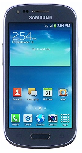 Samsung Galaxy S3 Mini G730a 8GB Unlocked GSM 4G LTE Android 4.1 Smartphone - Blue (Unlocked Samsung 4 Mini)
