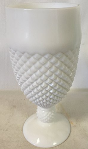 Goblet - Addison Pattern Mosser Glass USA (Milk) - Northwood Carnival Glass Patterns