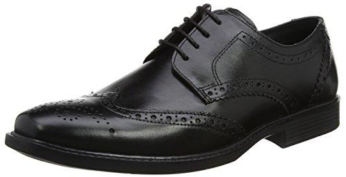 Red Tape Maglin - Zapatos de vestir Hombre Black (Black)