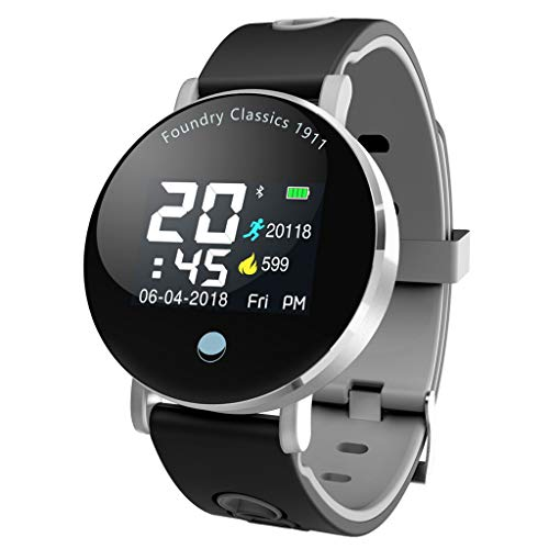 WoCoo Lightweight SmartWatch,1.4 inch Touch Screen Display,IPX67 Waterproof,Compatible with iOS&Android,Cost-Effective(Gray)]()