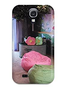 New Style 8482418K15097429 Galaxy Case - Tpu Case Protective For Galaxy S4- Pink Fairy Theme Playroom With Corner Oak Tree And Fountain-like Reading Area