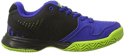 Wilson Wrs321830e125, Chaussures de Tennis Enfants Unisex, Bleu (Blue Iris Wil / Black / Granny Green), 31 1/3 EU