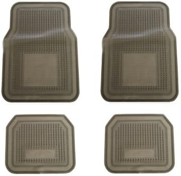 A Set of 4 Medium Duty Transparent Vinyl Floor Mats – Smoke