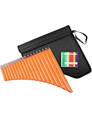 Mr.Power Pan Flute 18 Pipes C Key Panpipe Music Wind Instrument &Bag for Beginners Student Gift