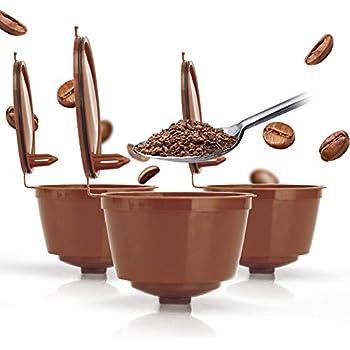 Amazon.com: 3 tazas/Pack rellenables Dolce Gusto café ...