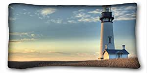 """Custom Characteristic ( Nature Lighthouse field sunrise oregon usa lincoln county nature ) Pillowcase Standard Size 20""""X36"""" Design Pillow Case Cover suitable for Twin-bed PC-Orange-24281"""