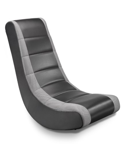 Crew Furniture 512080 Classic Video Rocker Black/Gray Mesh Racing Stripe