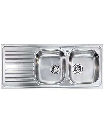 Dimensioni Lavello Doppio Cucina.Amazon It Lavelli Da Cucina Fai Da Te Vasca Singola Vasca Doppia