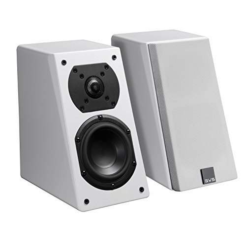 "SVS Prime 4-1/2"" Passive 2-Way Speakers (Pair) Piano gloss white PRIME ELEVATION 2PK, WHITE G"
