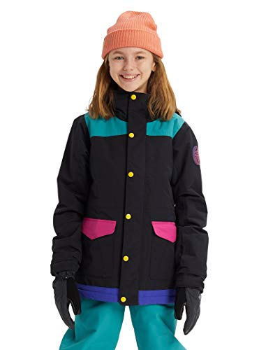 Burton Kids & Baby Little Kids' Elstar Parka Jacket, True Black Multi, Medium