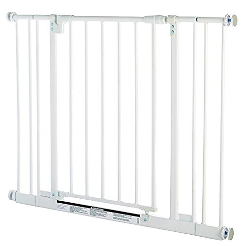 North States 38.5' Easy-Close Baby Gate: The multi-directional swing gate with...