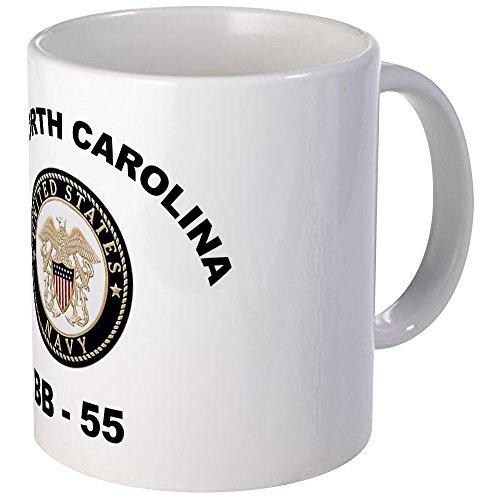 Uss Washington Bb (CafePress - USS North Carolina BB 55 - Unique Coffee Mug, Coffee)