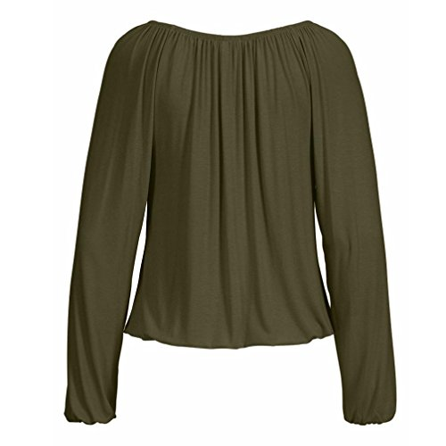 Chemise Dress Nouvelle Long Lache Bowknot V Mode Casual Solide Printemps Cravate zahuihuiM Fit Tops Vert Manches Cou Blouse Femmes Automne Longues XwIqfgAH