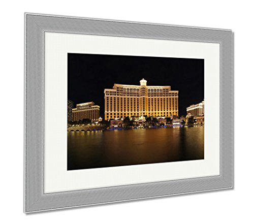 Ashley Framed Prints Las Vegas Hotels, Wall Art Home Decoration, Color, 34x40 (frame size), Silver Frame, - In Palace Vegas Caesar Las Shops